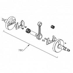 Kurbelwelle komplett - Mini Rok